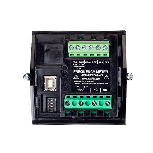 APM Frequency Meter Back View